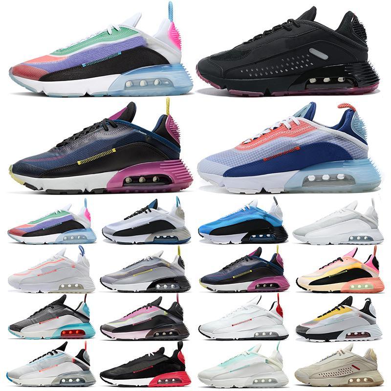 2090s رجل الاحذ2090s من الرجال والنساء المدرب كن بطة صحيح كامو الأسود تعكس luxurys الأزياء الفضة في الهواء الطلق أحذية رياضية الرياضة