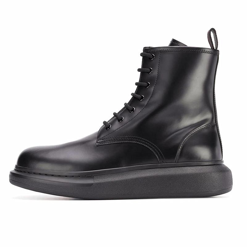2020 Зимняя обувь для мужчин из мягкой кожи мужчин Ботильоны Платформа Сапоги Военные 16 # 20 / 20D50
