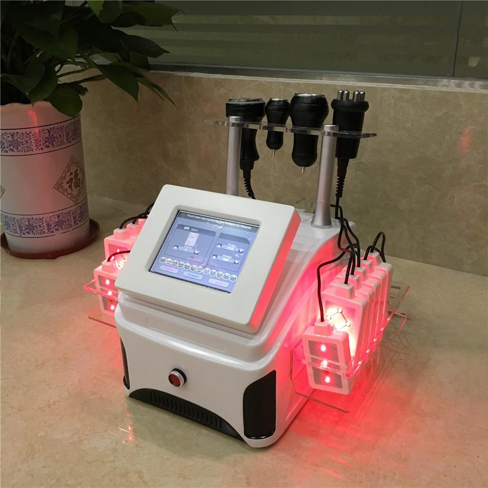 Vacío lipo láser cavitación Symtem RF que adelgaza la máquina / de vacío Terapia de drenaje linfático Lipolaser máquina de pesas Pérdida