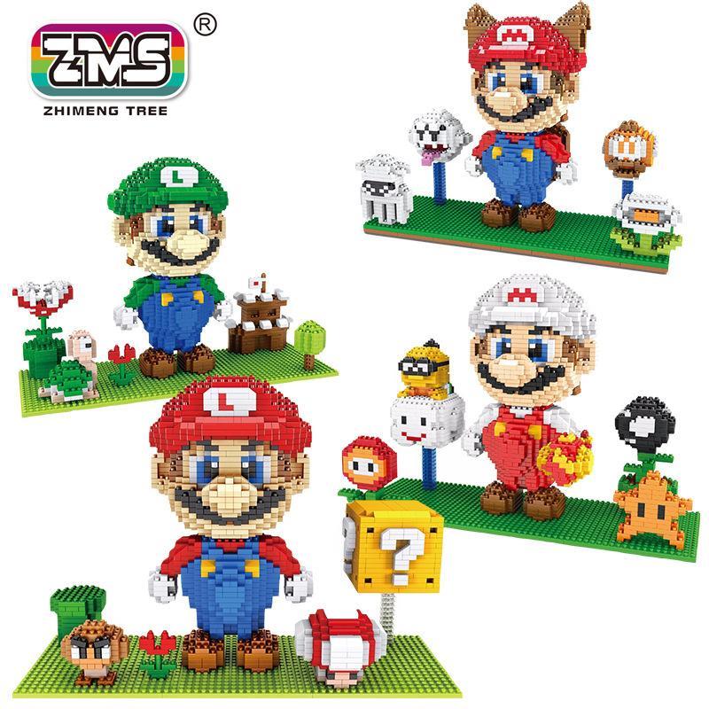 ZMS Mini Blocks Assemblare Anime figure Bowser modello di costruzione di giocattoli Yoshi Boy regalo del fumetto Brinquedos bambini regalo di compleanno C1115
