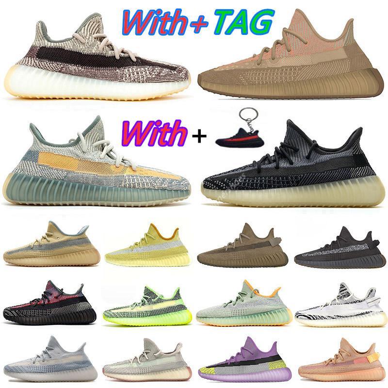 Kanye West pas cher New Abez Asriel Israfil Marsh Desert Sage Terre Cinder occasionnels Chaussures Feu arrière ZYON Linen GID entraîneurs des hommes de chaussures de sport