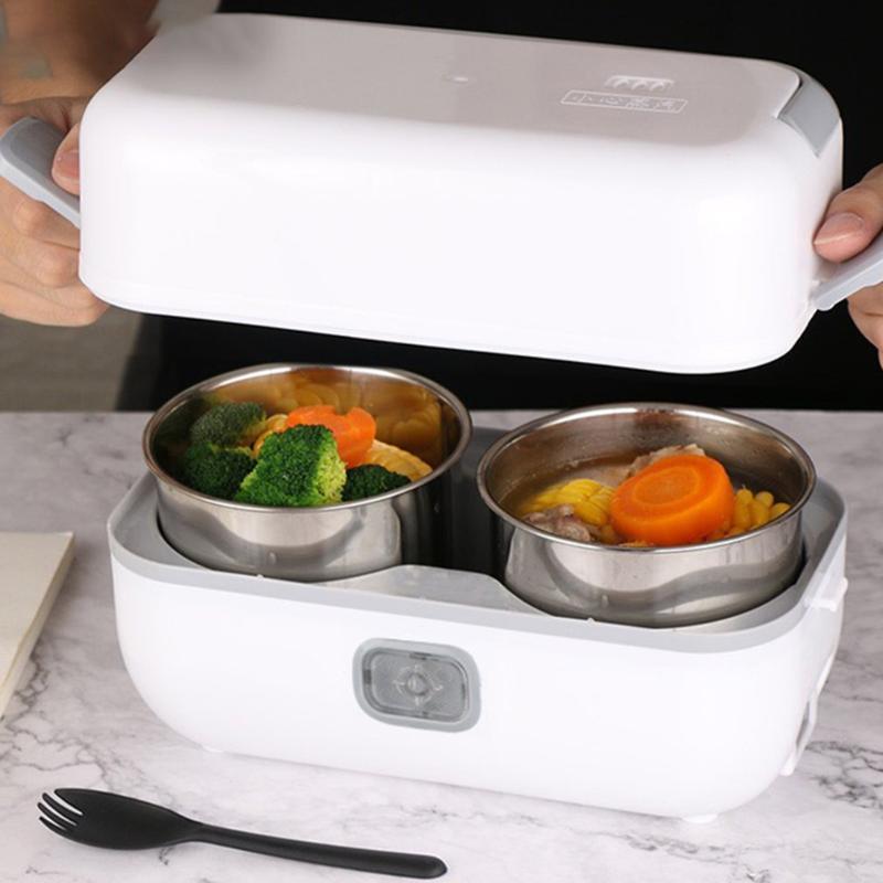 Электрический Lunch Box Plug-In Электрическое отопление и сохранения тепла Портативный Обед Горшок для офисных работников
