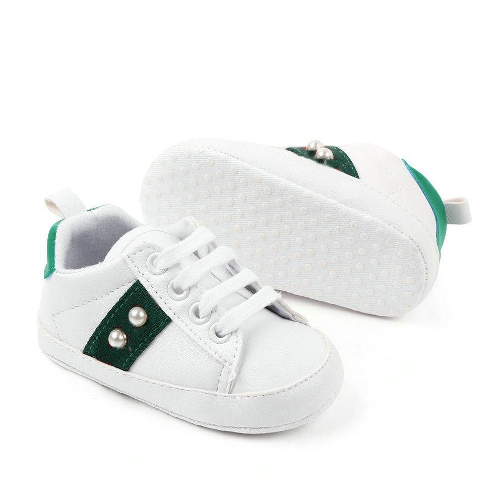 2020 PU-Leder Baby Mädchen Kinder Erste Wanderer Säugling Kleinkind Klassische Sportarten Anti-Rutsch Weiche Sohle Schuhe Sneakers Prewalker Frühling Herbst