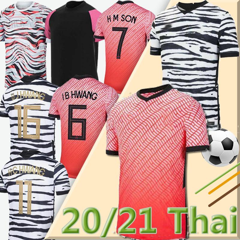 2020 Güney Kore futbol jerseys 2021 South Korea Son Hun Kwon Lee Kim Ho Son Hyung Kim 20 21 Futbol Gömlek Üniforma Tayland