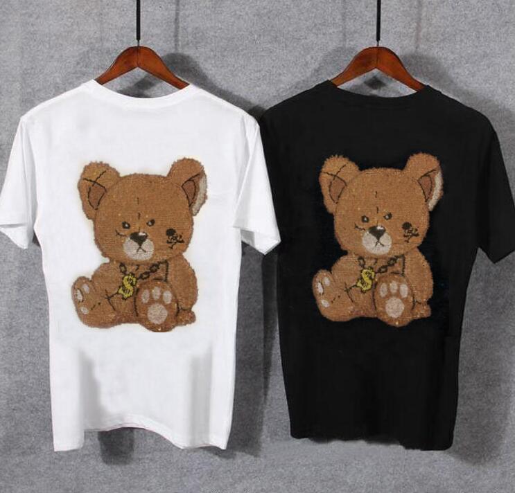 Novo 2021 Moda Casual de Mangas Curtas Rhinestone Tshirt Slim Fit Masculino Perfurinho Hot Business Camisa Marca Homens Roupas Soft COM EX1K