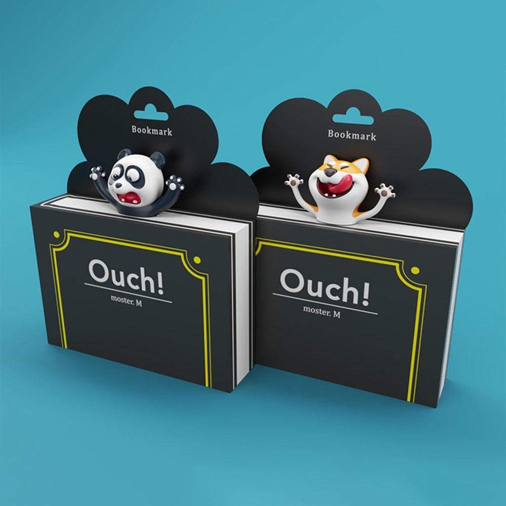 1pcs mignon et Panda Shiba Inu Pvc Favoris 3d drôle School Book Marker stéréo Cartoon animaux Fournitures qylcMi allguy