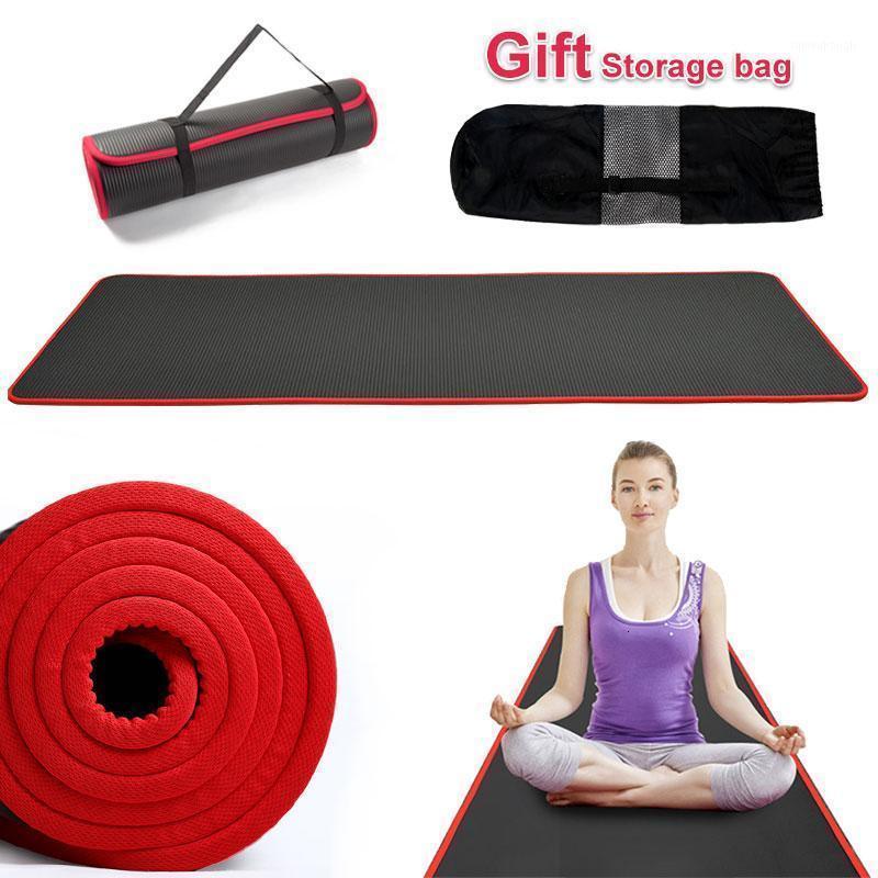 Nuevo 10 mm espesado antideslizante 183cmx61cm NRB Yoga Mat Pilates Ejercicio ejercicio Fitness hombres mujeres de alta calidad Pilates sin sabor Pads1