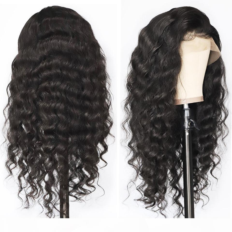Peruvian Virgin Human Hair Full Density 360 Lace Frontal Wig Pre Plucked Water Wave 360 Human Hair Lace Wigs With Baby Hairs