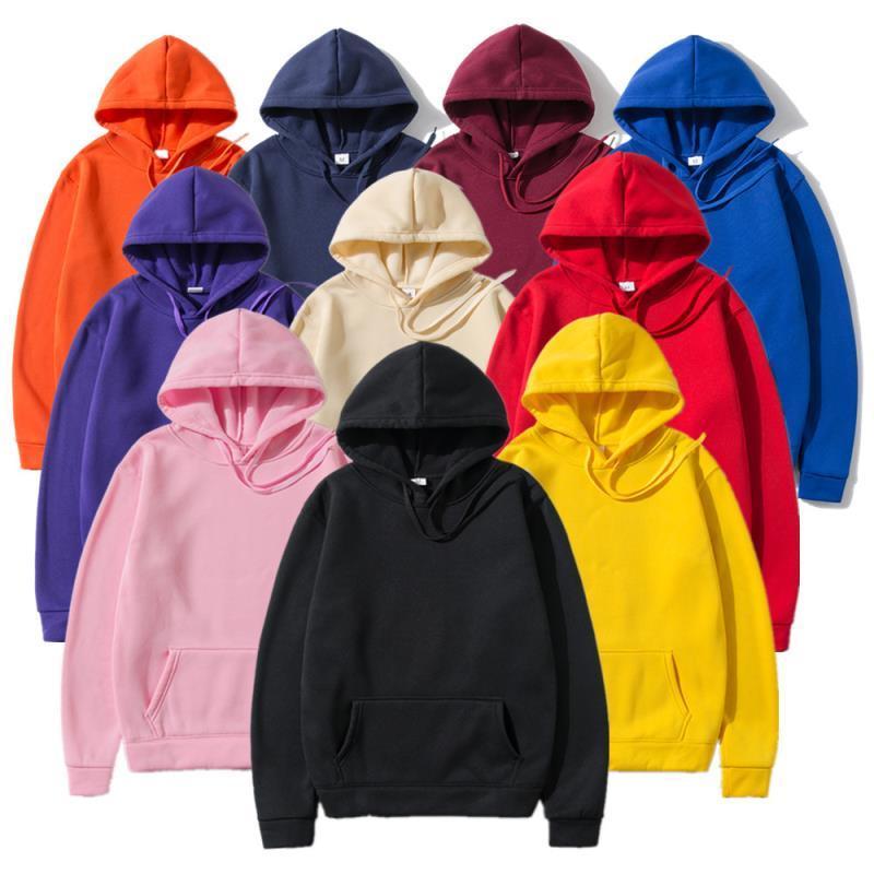 Mâle Mode Couleur 2020 Sweats à Sweats à capuche Automne Tops Hommes Hommes Sweats Casual Sweatshirts Solid Sweat à capuche Vêtements Okmjs Hiver Glcow