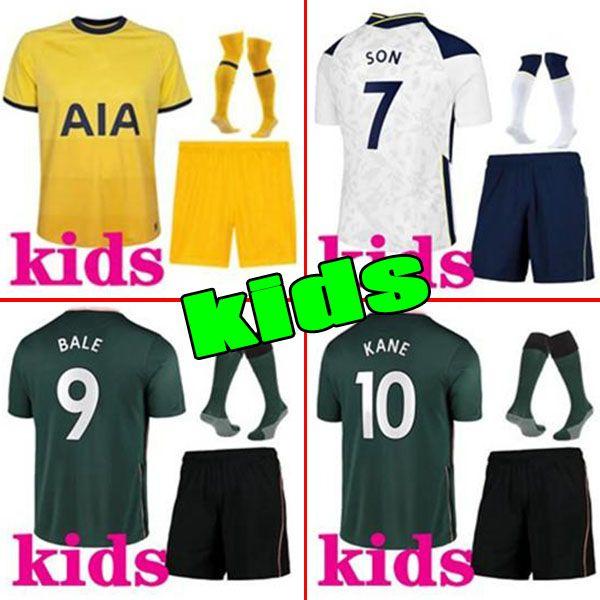 2020 2021 Kane Son Bergwijn Bale Soccer Jerseys 20 21 Lucas Spurs Dele Tottenham Men Hommes Ensembles Bale Ndombele Football Kit De Chemise Uniformes
