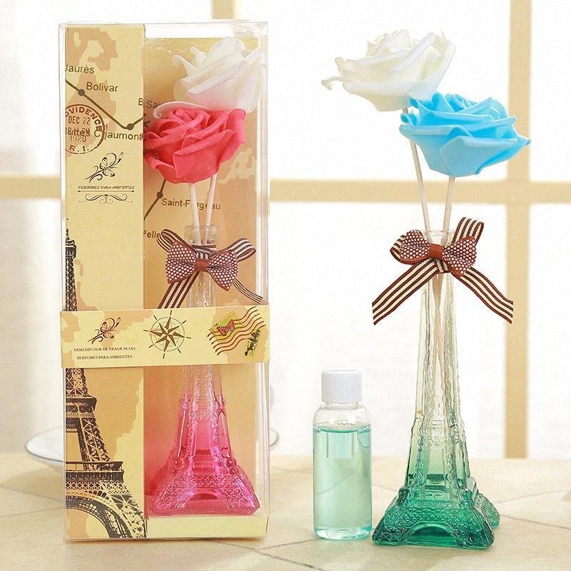 Рид Диффузор Комплекты Ротанг Сухие цветы, ни огня, эфирные масла, бытовые номера Флаконы для духов в спальне. M3oS #