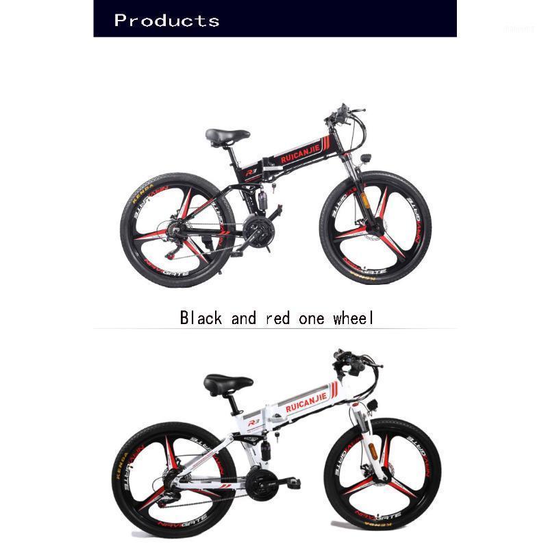 بمساعدة R3 المعيار الوطني دراجة دراجة كهربائية قابلة للطي جبل 48 فولت الليثيوم عبر البلاد متغير السرعة 26 بوصة المشي 1