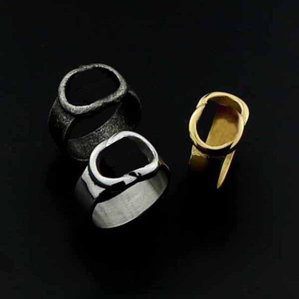 New Style Charm Jewelry Edelstahl Buchstaben Ring Hohl Ring Einfache Mode Hip Hop Ring Party Geschenk Zubehör