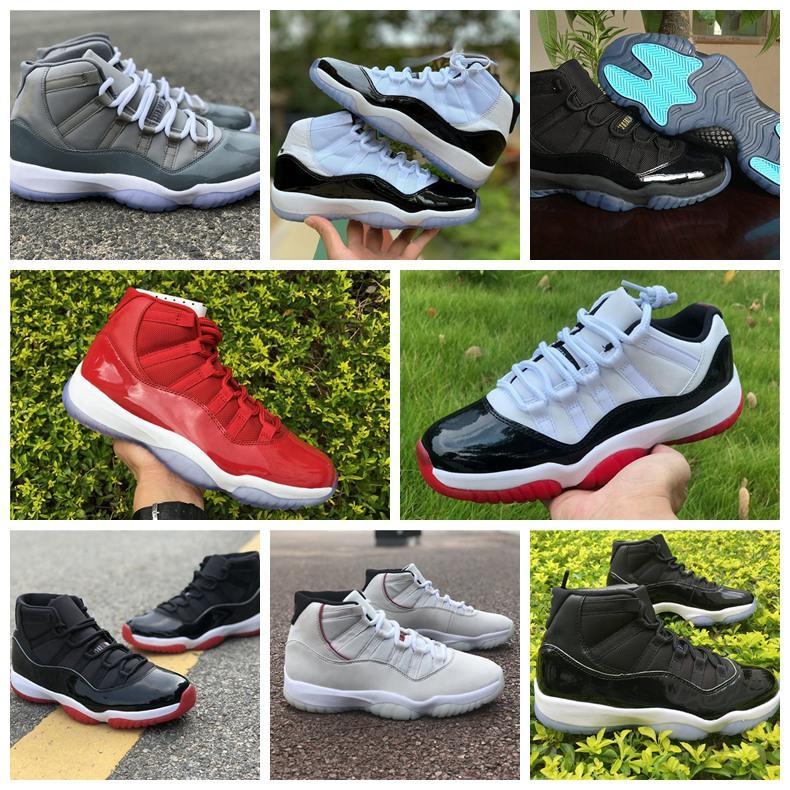 2020 Новые 11 11s Jumpman баскетбольной обуви низкий белый металлик золото легенда синий Pantone ово серый змей MENS кожи женщин кроссовки размер 36-46
