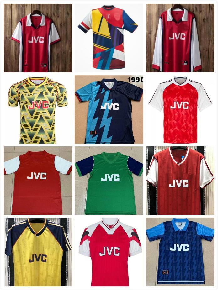 04 05 06 Jersey de football rétro 82 88 89 Henry Vintage Pires Soccer Shirt 1994 1994 1997 2000 20002 Uniforme de football