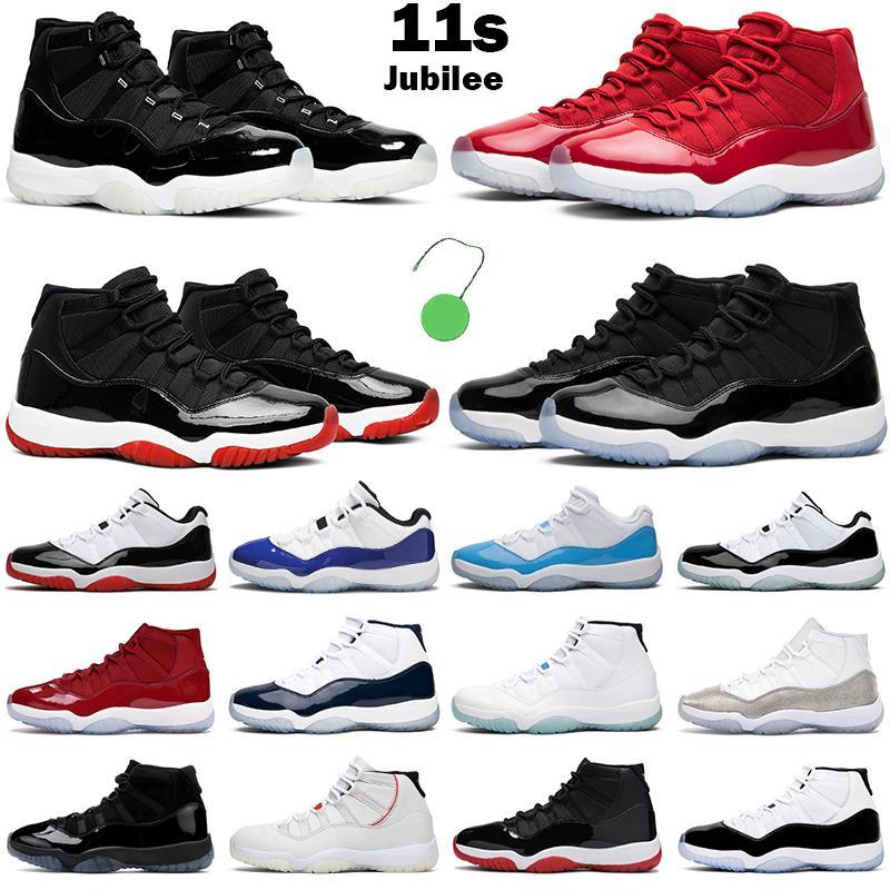 Nouveau 11s chaussures de basket-ball hommes femmes 11 Jubilé 25e anniversaire Bred Concord Win Like 96 82 UNC Cherry hommes formateurs baskets de sport