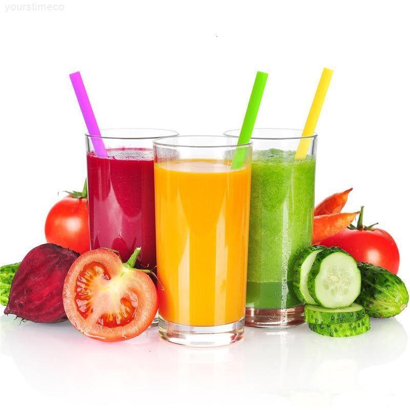 Две кисти сорты согнутыми, пить свободные силиконовые соломинки 25см с набор чашек для еды DHL прямой кидок