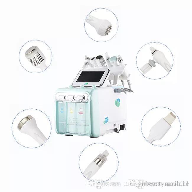 Portátil 6in1 Hidro Peel Microdermoabrasão Hydra Facial Limpeza Profunda RF ultra-BIO rugas Remoção de pequenas bolhas beleza máquina