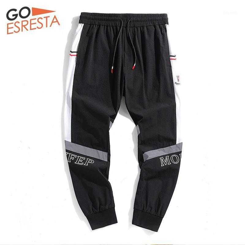 Goesresta Summer Casual Hombres Hombres Sweetpants Flow Harem Streetwear Joggers Reflective Hombres Ropa Hip-Hop Treusstring Pantalones1