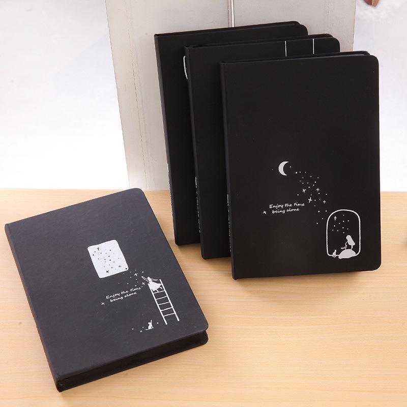 2019 nova estrela livro comemorativo bloco de notas Blank Blank Black Página Inner Page Diário Livro DIY Black Notebook1