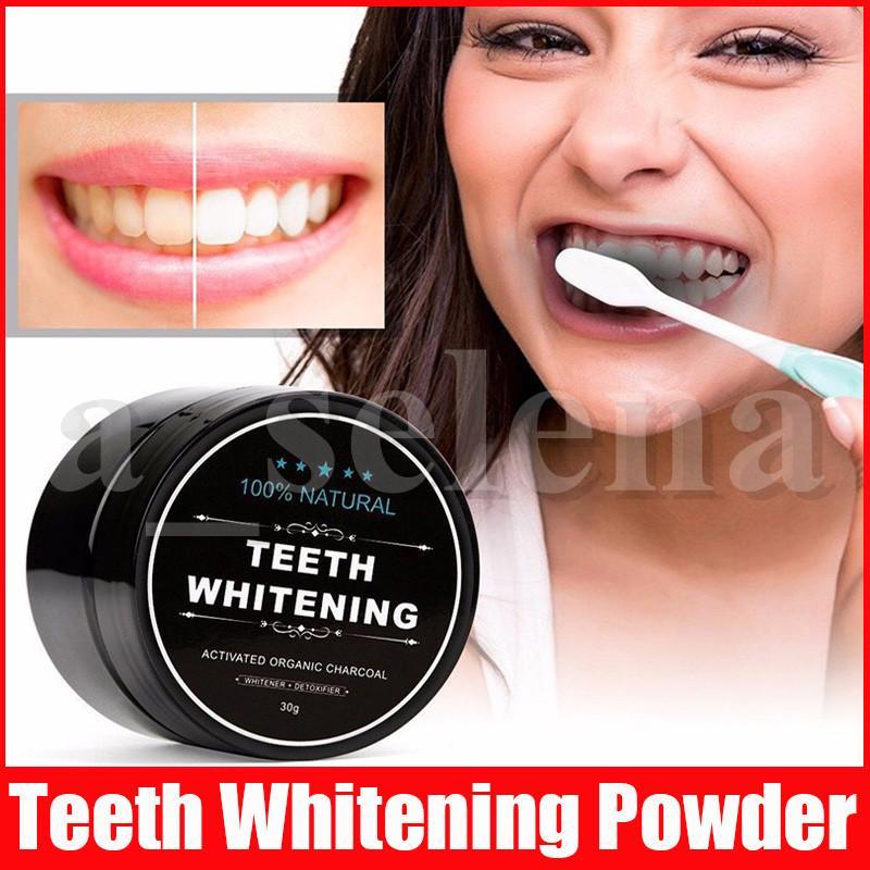 Teeth Whitening Powder Natur Bambus Aktivkohle-Pulver Dekontamination Tooth Yellow Stain Bambus Zahnpasta Mundpflege Lächeln
