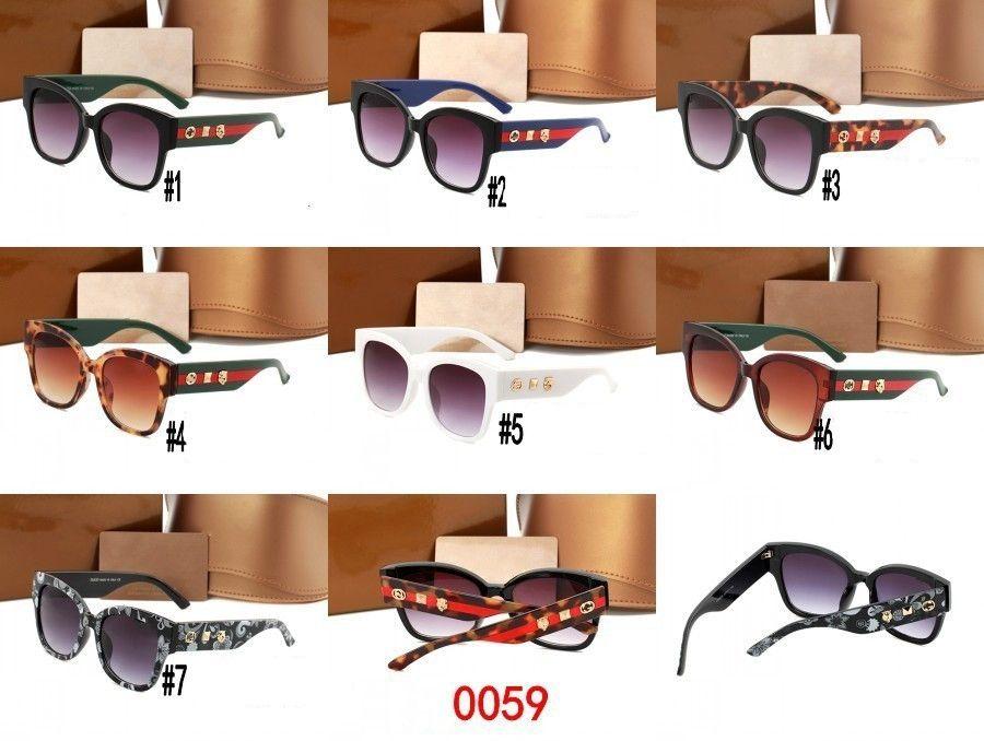 10pcs, Italien 0059 Designer-Sonnenbrille Luxus schattiert Gläser einfach Retro-Strand Sonnenbrille Männer Frauen Goggle kühlen Gläser runden Rahmen outoor