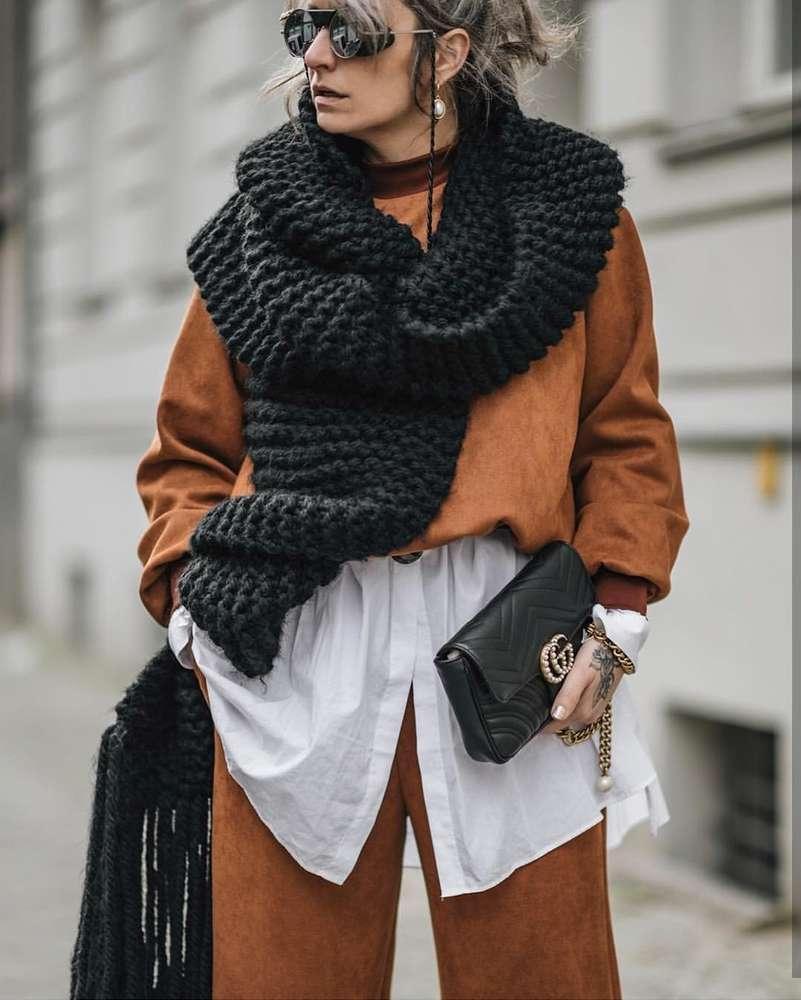 2019 vento malha borla ampliado bib bib handmade grossa agulha lã de inverno quente lenço xaile