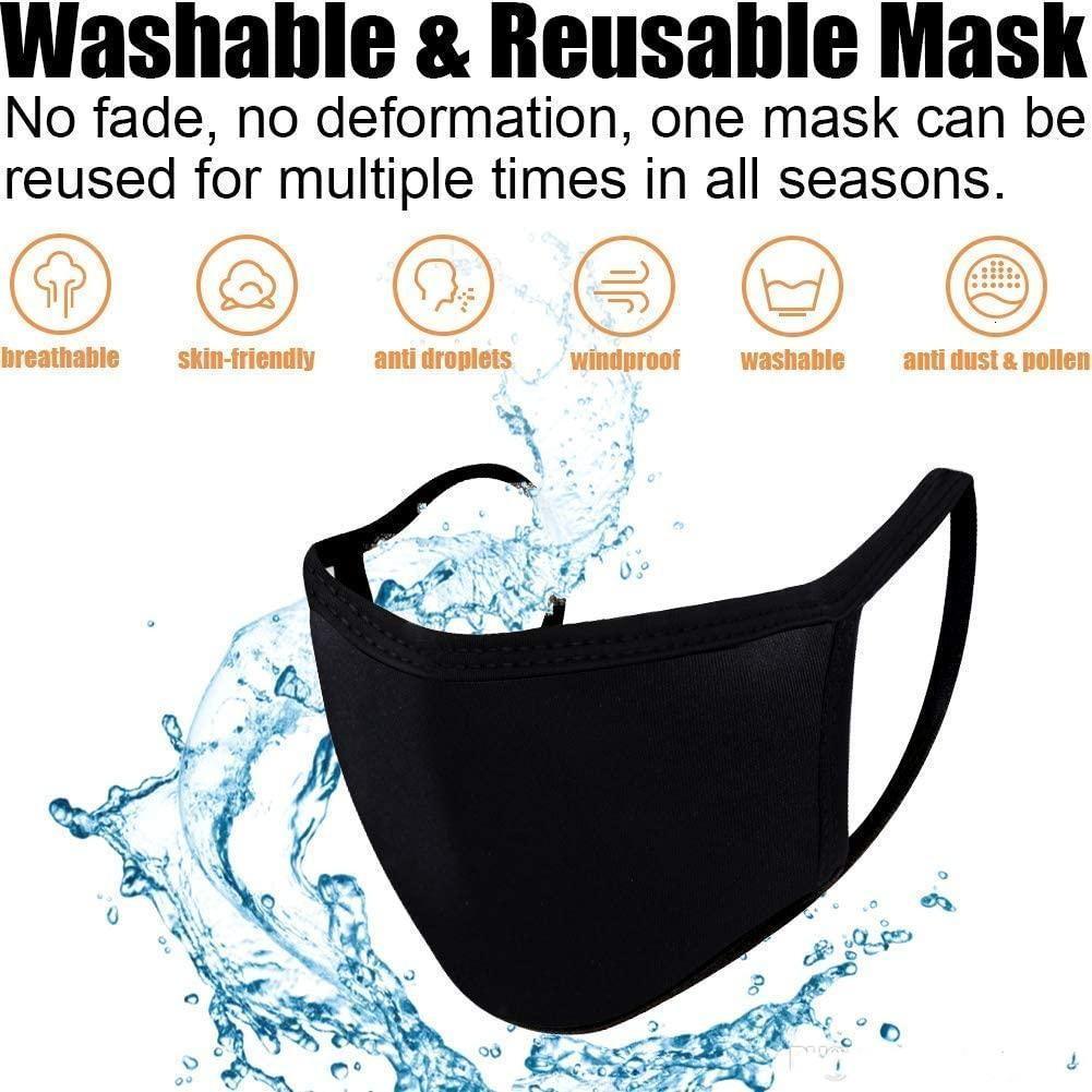 Индивидуальная упаковка велосипеда носить антиушин хлопчатобумажный рот маска для лица PM 2.5 маска унисекс человек женщина черная белая мода дизайн