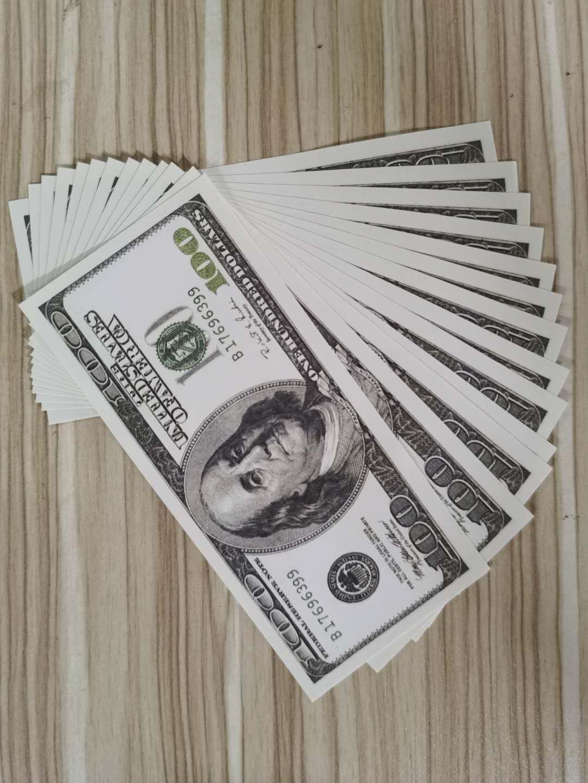 Dollars Money Game 100 Film Toy Monnaie Partie de devises Fake Prop 100pcs / Pack Objets adultes Cadeau Enfants Billet de banque Décoratif 012 GPSDF