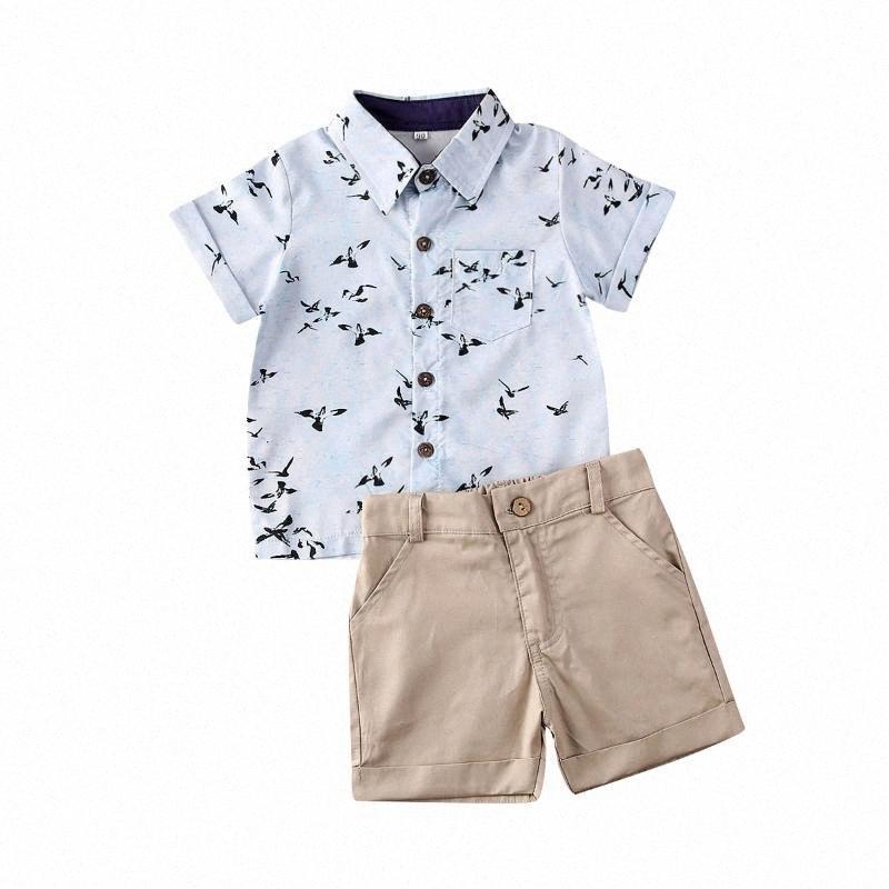 2020 2020 Yaz Pamuk Gentleman Boy Kısa Kollu Martı 1 6Y Bebek Bebek Boys Giyim sgAg # için Top + Kısa Pantolon Kıyafetleri yazdır