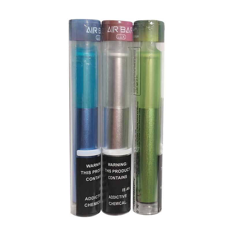 일회용 vape 에어 바 럭스 1000 퍼프 E 담배 500mAh 배터리 2.7ml Sigaretta Elettronica 카트리지 키트