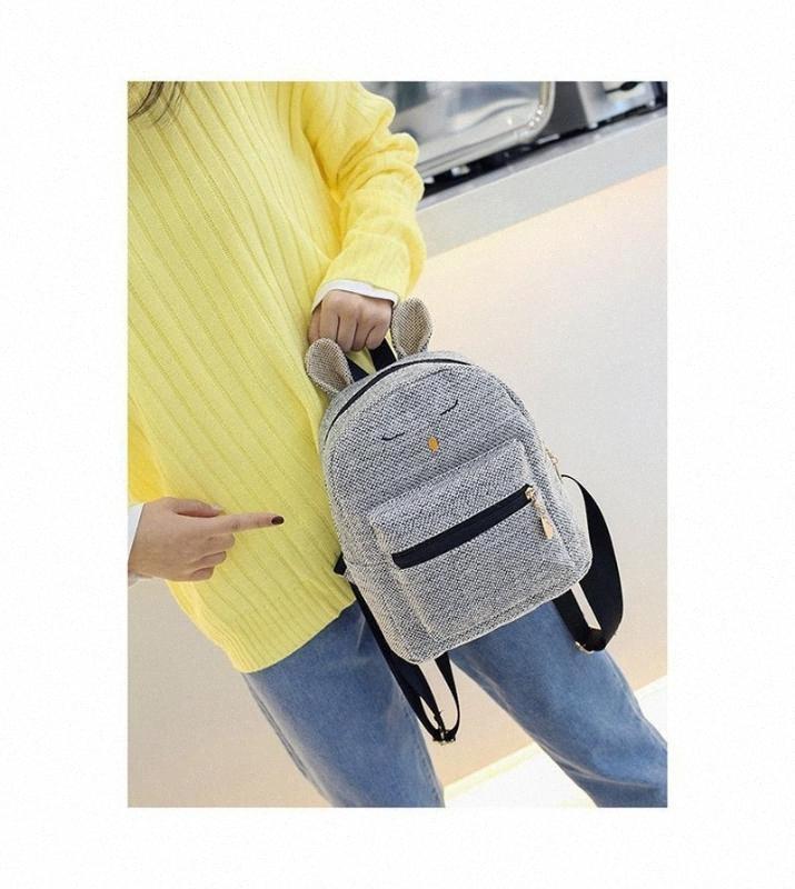 2020 новых женщин рюкзак Корейский Симпатичные Сплошной цвет дамы Рюкзак вскользь дамы qEUt #