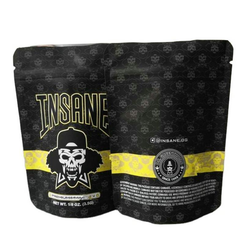 3.5 Gram prova de criança Insame Saco 3colors Cheiro Bags prova premium 18 Oz Vape Embalagem Insane Mylar Zipper Bag sqcbjZ wphome