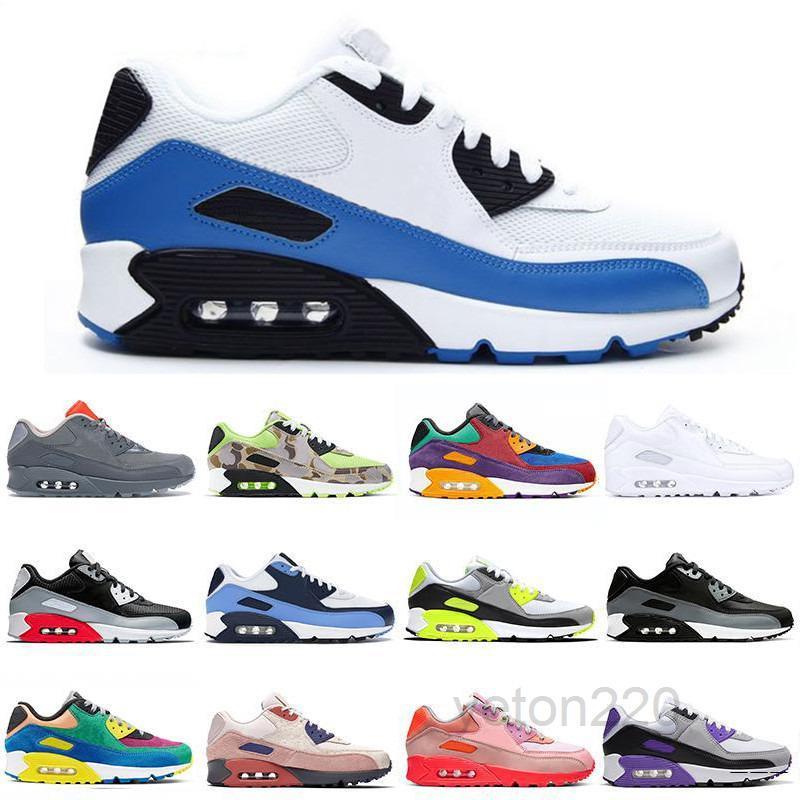 2021 Neue 90er Jahre Sportschuhe billig 90 Männer Frauen Schwarz Weiß Infrarot Resifft Royal Denham Outdoor Sneakers Klassische Designer Schuhe X693 S62K