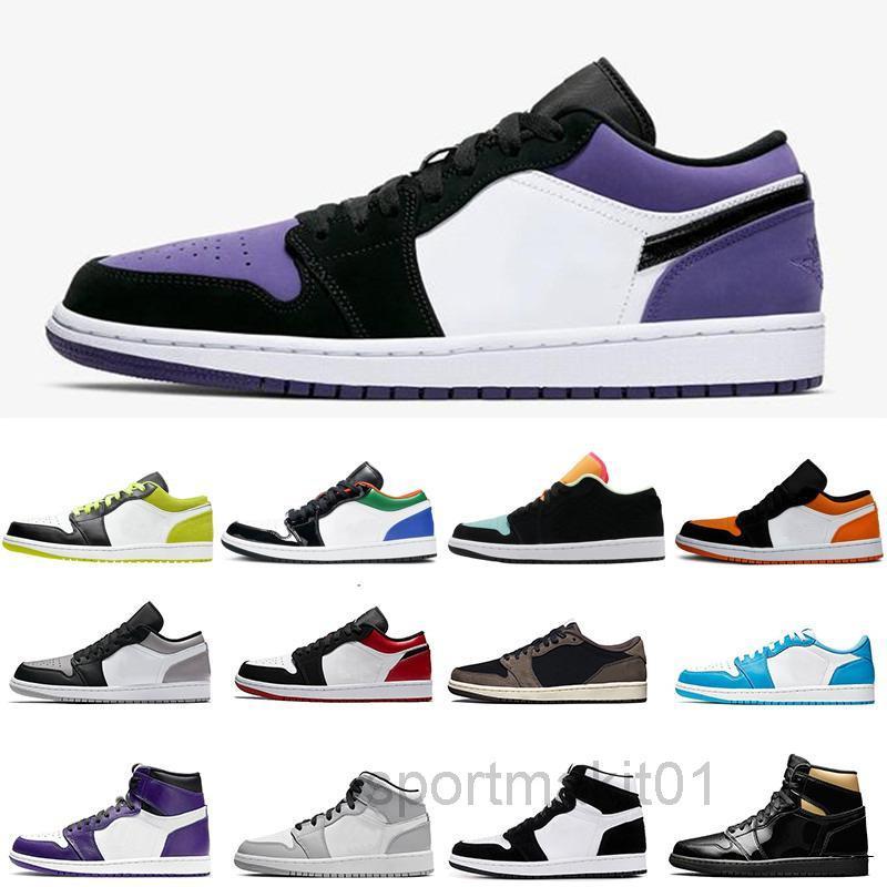 2020 Neue Ankunft Niedrig Og Jumpman 1 1s Frauen Herren Basketballs Schuhe Designer Travis Scotts UNC Paris Black Tehe Chicago Trainer Sports HJ3N