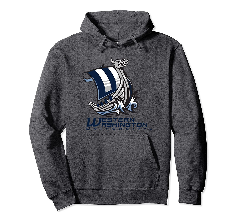 Western Washington Vikings NCAA Hoodie Unisex Size S-5XL with Color Black/Grey/Navy/Royal Blue/Dark Heather RYLWWU06
