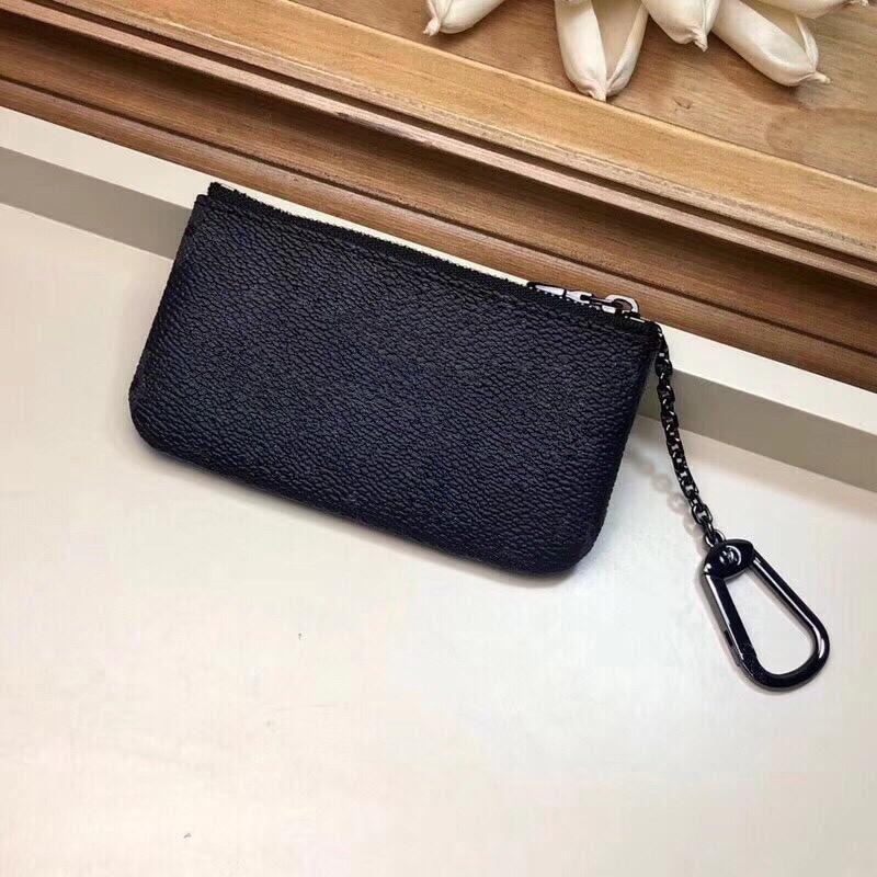 curto clássico carteiras sacos para mulheres bolsos titulares de cartão crossbody para senhoras couro real pvc bolsa da moeda para os homens 12x7cm