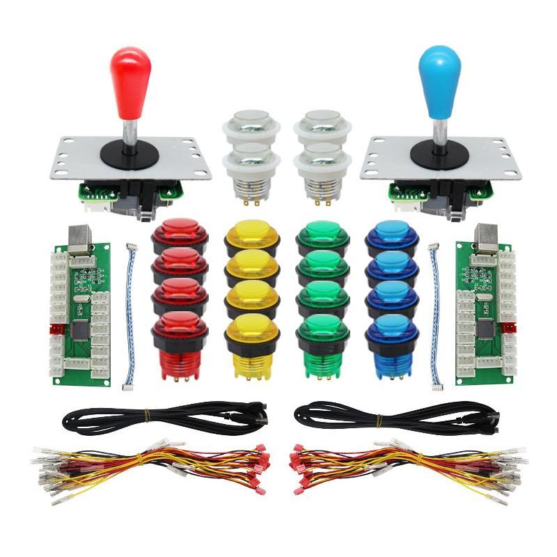 DIY Arcade Joystick Kit Encoder USB USB Botão Control Board Iluminado para o jogo PS3 / PC