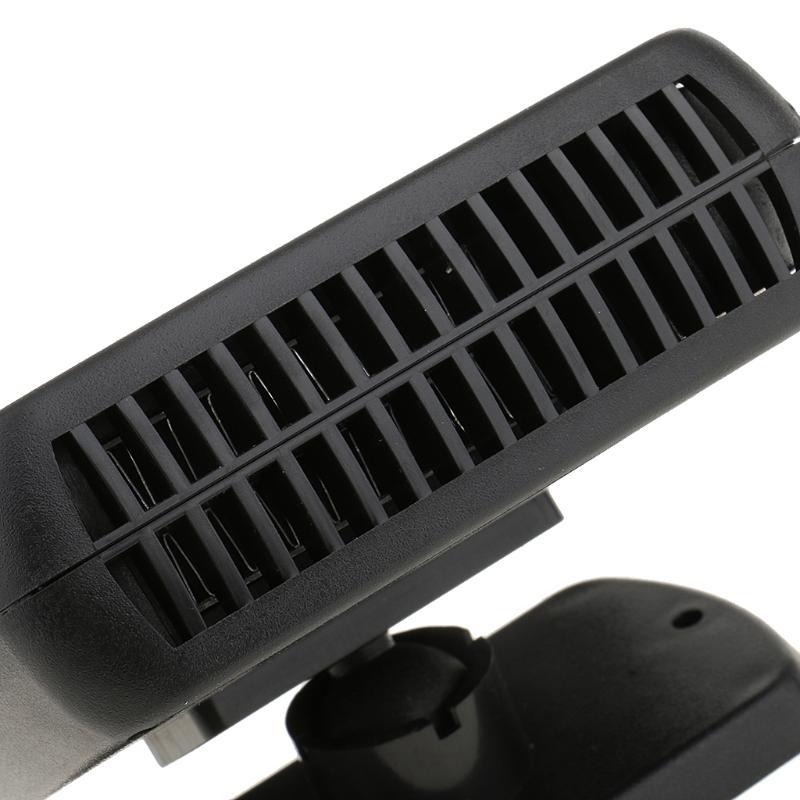 Auto Heater Defroster, beweglicher Auto-Träger Heizung Ventilator Defroster Demister, schnell Vorläufe (12V 200W Schwarz)