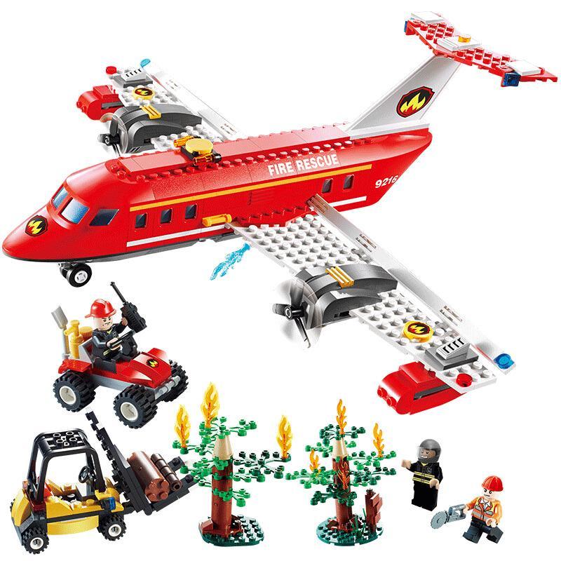 GUDI 9216 FUEZ FUERTE FUERTE ESPECIAL Fuego Avión Avión 431PCS Bloques de construcción Niños DIY Ladrillo de juguete para niños Regalo X0102