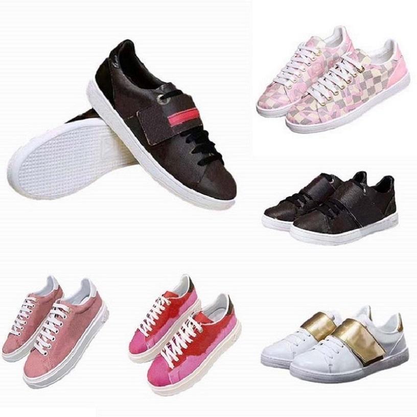 Art und Weise beste Top-Qualität aus echtem Leder Handgemachte Multicolor Gradient Technischen Stoffes Turnschuhe Frauen berühmte Schuhe Trainer b04 L01