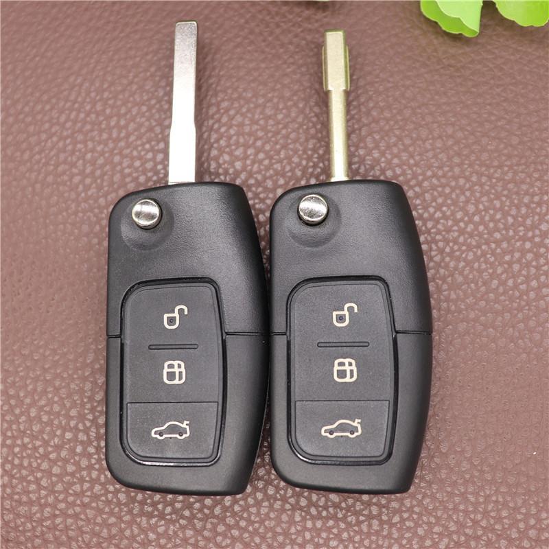 3 кнопки Flip складной модифицированный неразрезанный автомобиль пустой ключ оболочкой удаленный FOB крышка для Ford Focus Fiesta C MAX KA