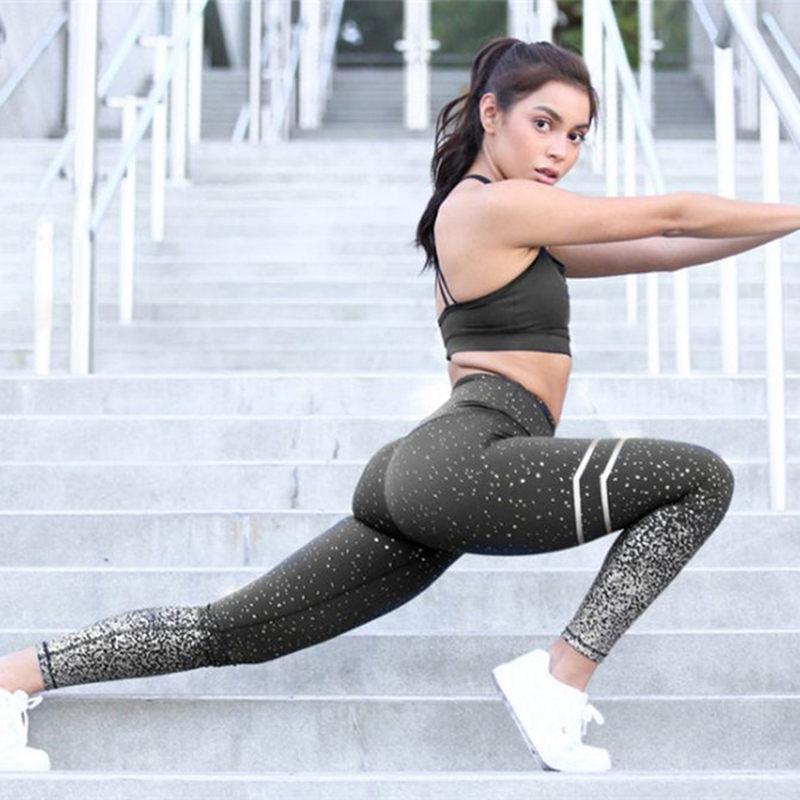 Spor Yoga Pantolon Spor Kadınlar Için Giyim Profesyonel Koşu Fitness Spor Tayt Push Up Tayt Baskılı Pantolon 201014