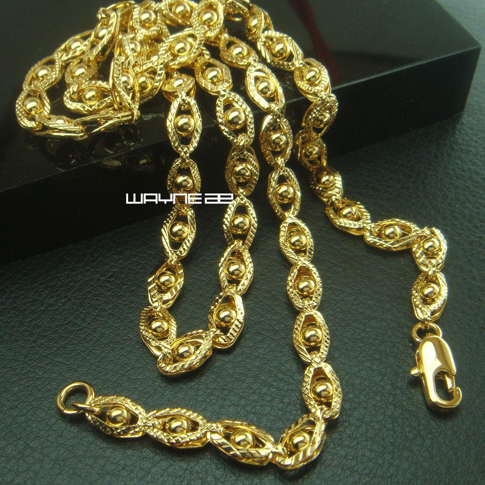 18k gelbes Gold füllte der Frauen-Halskette Elegante Kettenverbindungs-Schmuck Luxus N288