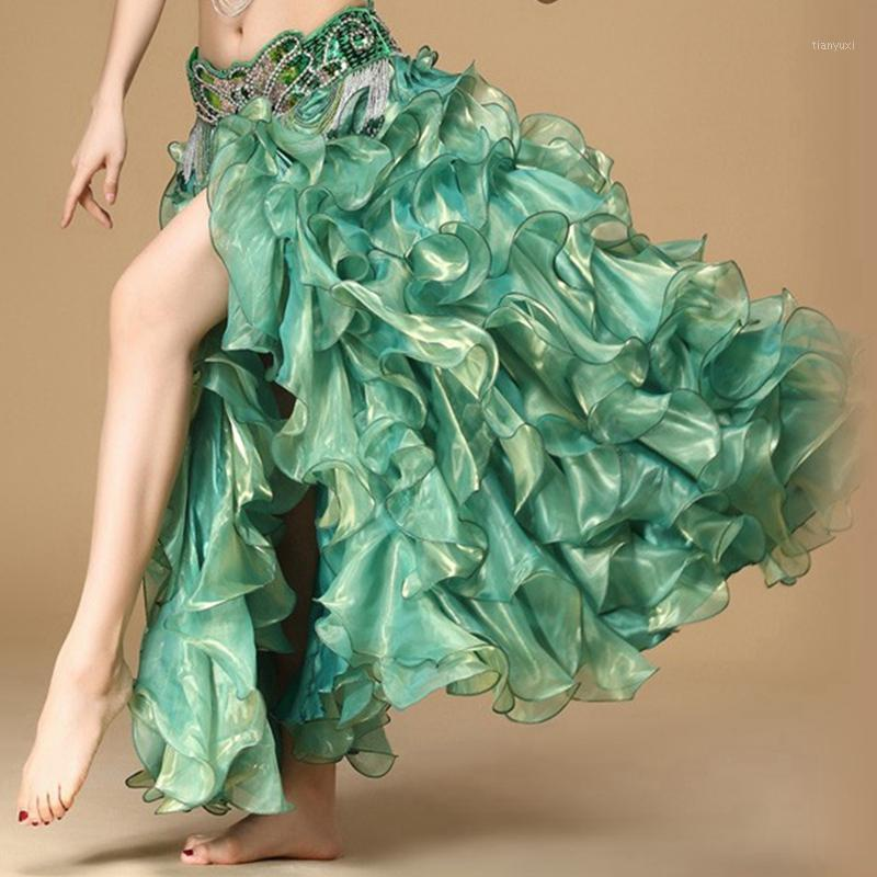 Femmes ventre danse vêtements longues maxi jupons professionnels 5 couleurs danse orientale ventre de danse