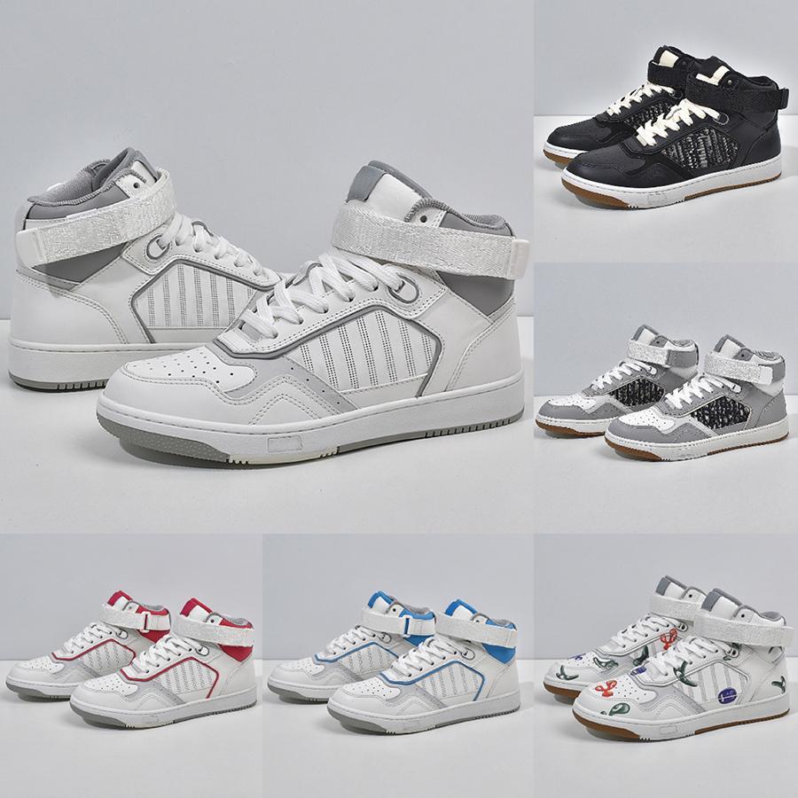 Austrália Luxurys Designers Mens Womens Basketball Sapatos Hight Cut Sneakers Top Qualidade Suave Vaca De Couro De Couro Embalagem De Bordado Running Tênises Ao Ar Livre