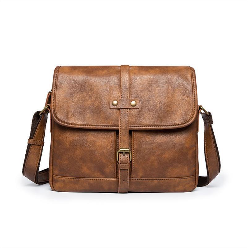 Tasarımcı Marka Evrak çantası Erkekler Yumuşak Deri Omuz Çantası Seyahat İş ofis Deri laptop çantası Kapak Messenger Çanta