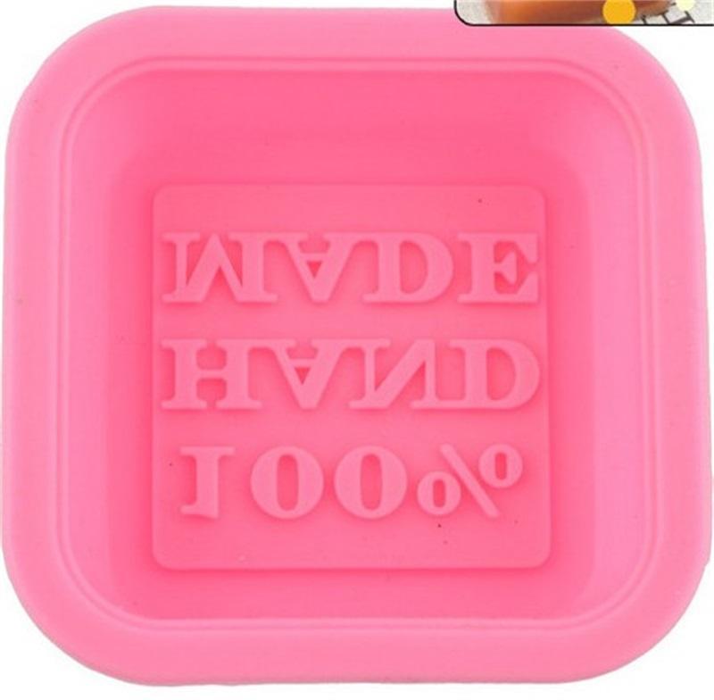 DIY epóxi resina molde de silicone quadrado artesanal multi cores mini molde de sabão bolo biscoito biscoitos moldes de chocolate venda quente 0 8mn l2