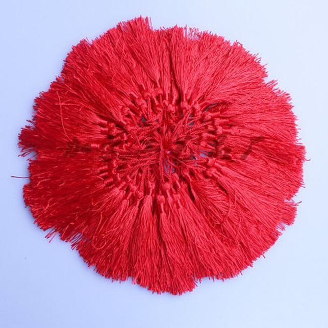 30pcs Lot 13cm Longitud Nudo chino Tassel de seda para pendientes Long Rayon Thread Barrasseles Hecho A Mano Cotton Tassel Joyería Suministros H Jllmch