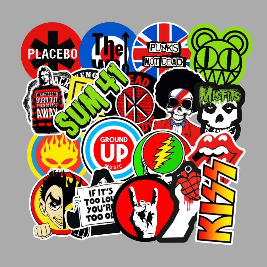 100 morceaux de musique Theme Graffiti Stickers Moto Skateboard Stickers de cahier Imperméable W7B2